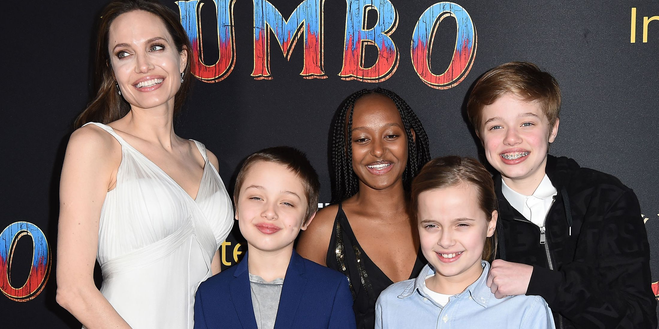 Angelina Jolie attends Dumbo premiere with her kids