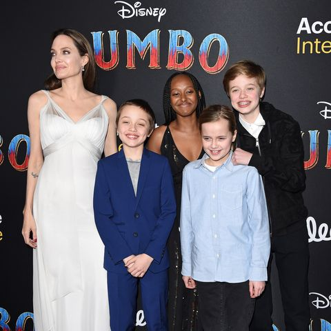Angelina Jolie And Her Kids Shiloh Knox Zahara And