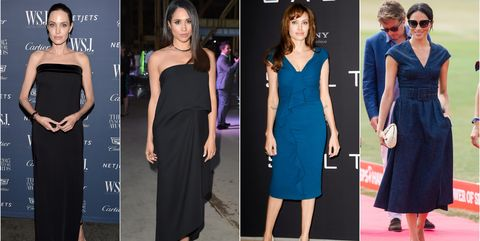 e5eb49d9b5f76a All The Times Meghan Markle Channeled Angelina Jolie's Sophisticated Style