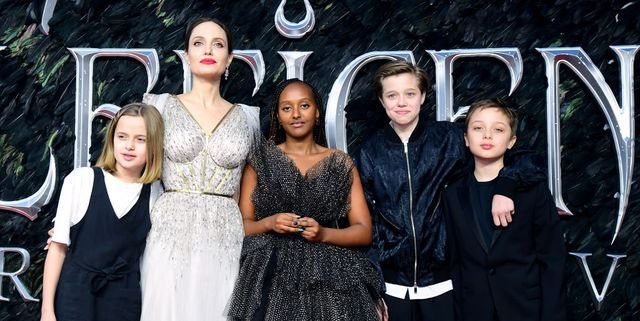 Angelina Jolie and Her Kids Were the Best Dressed Family at the 'Maleficent 2' London Premiere