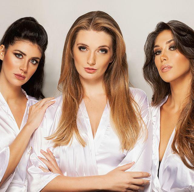 angie benavides, desire grund y andrea martínez, tres de las candidatas a miss universo españa