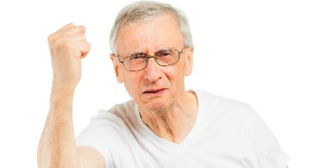 Angry Old Guy Shakes His Fist