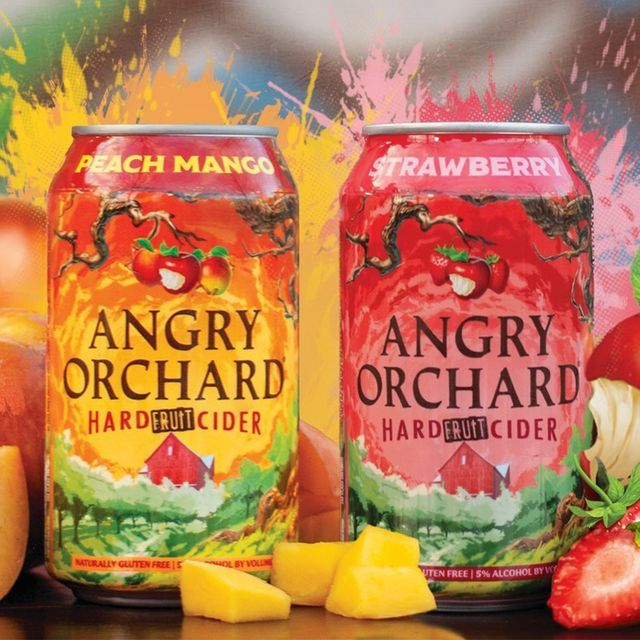 angry orchard peach mango and strawberry hard cider
