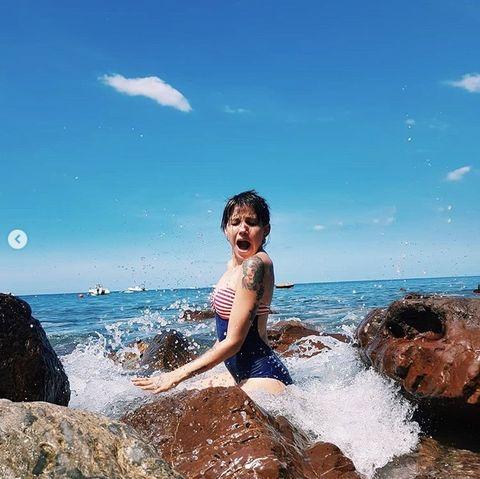 Photograph, Sea, Water, Sky, Vacation, Blue, Fun, Ocean, Beauty, Rock,