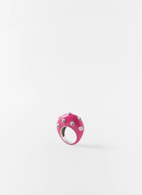 anillo plástico zara