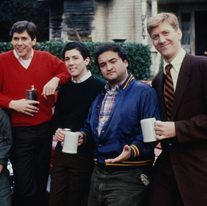 Animal House The essential college fraternity comedy, John Landis and Ivan Reitman's 1978 gem charts John Belushi, Tim Matheson, and the rest of their Delta Tau Chi brothers as they wage campus war against a fascist dean.