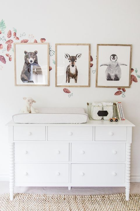 animal print woodland nursery