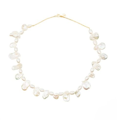 anissa kermiche gold and pearl necklace
