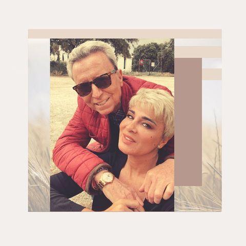 ana maria aldon y ortega cano posan abrazados en una publicaciones de instagram