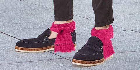 Footwear, Shoe, Pink, Brown, Ankle, Plimsoll shoe, Suede, Magenta, Boot, Human leg,