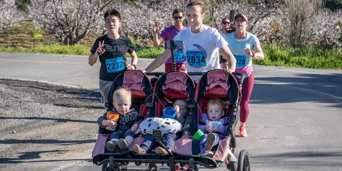 Ann Marie Cody 10K Guinness World Record For Triple Stroller-5189
