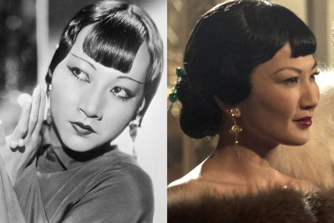 actress anna may wong and michelle krusiec from 'hollywood'