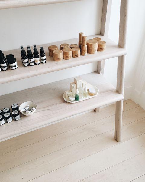 Shelf, Shelving, Furniture, Footwear, Room, Shoe, Shoe store, Wood, Interior design, Floor,