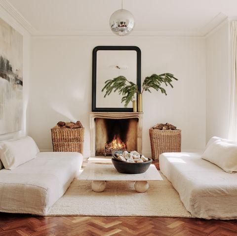 living room of au bespoke founder anna unwin's home