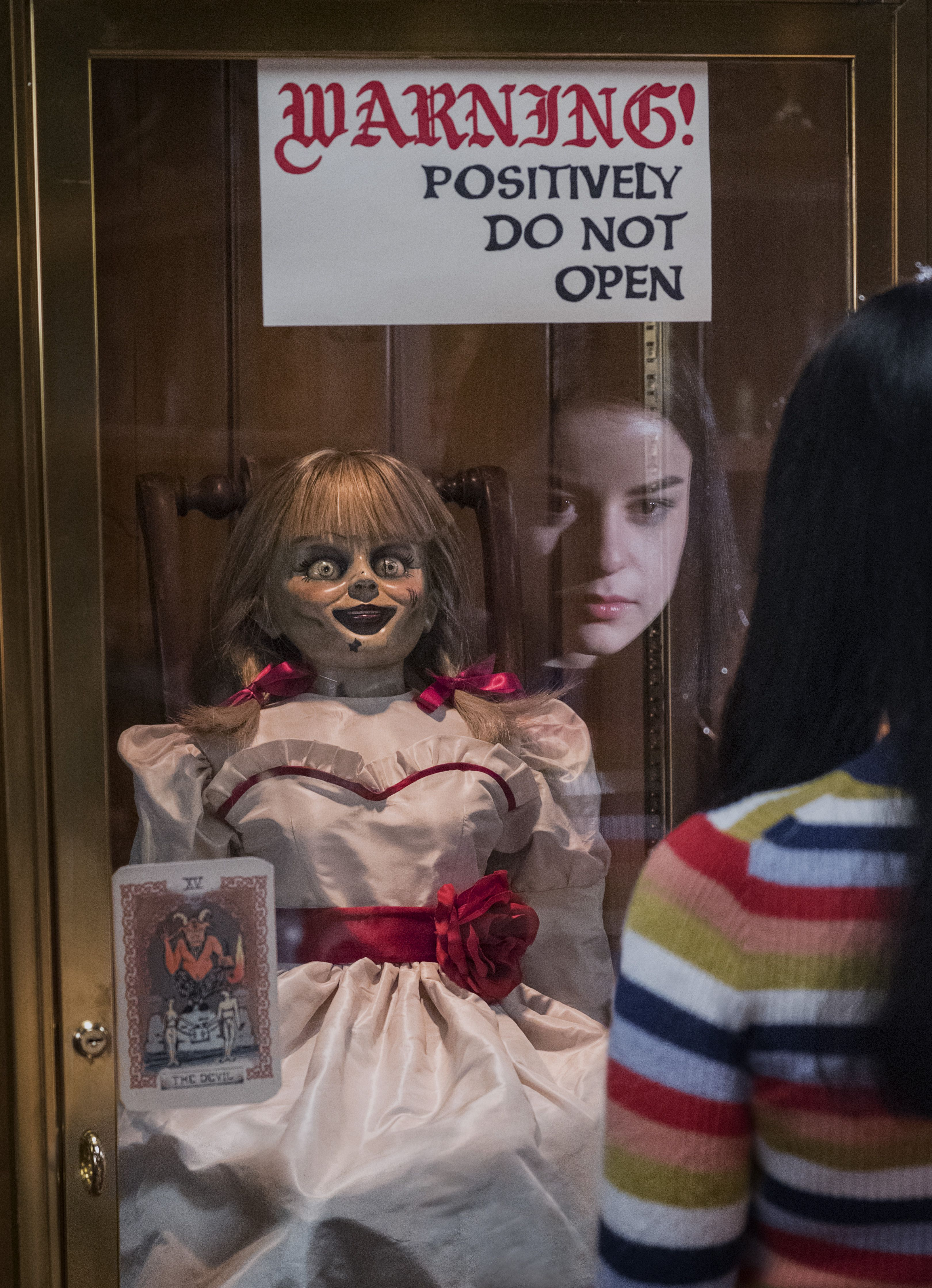 Multiple Sizes Annabelle 3 Comes Home Movie Poster Red Background