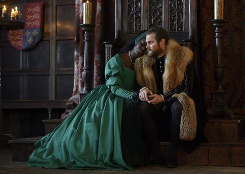 anne boleyn episode 2castjodie turner smith as anne boleyn and mark stanley as henry viii