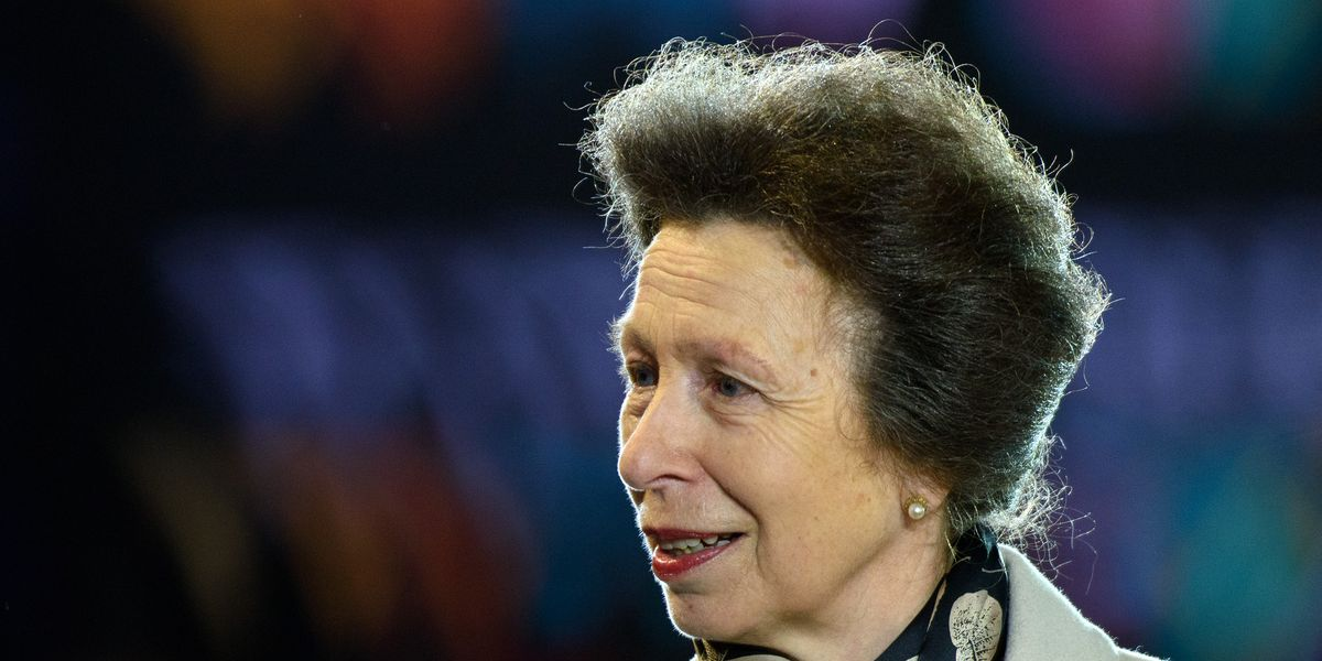 Princess Anne spent the weekend onboard a Royal Navy ship in full uniform