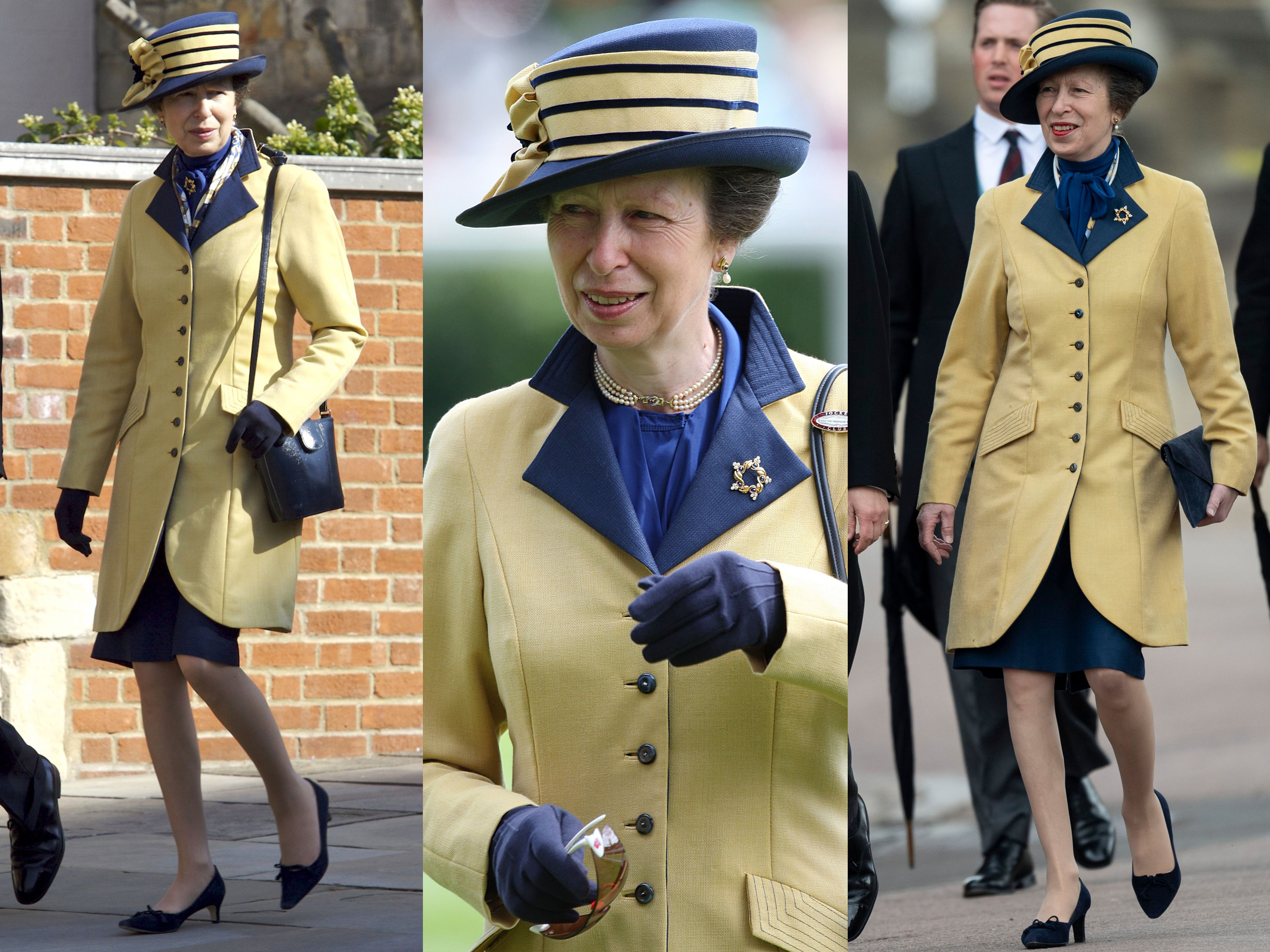 From left: Anne at Easter services at Windsor Castle in 2007, at Royal Ascot in 2009, and the graduation of 23 Junior Soldiers at the Army Foundation College in 2010.