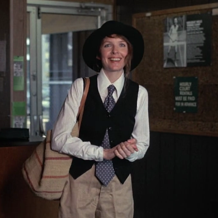 Annie Hall (1977) In what might arguably be her most iconic role, Diane Keaton played the idiosyncratic title character in this post-modern rom-com from writer-director Woody Allen, which tracks the relationship between two New Yorkers inspired by the film's stars' own romance.