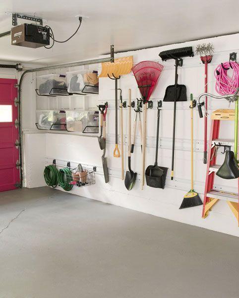 Annie Selke Garage Wall Organization