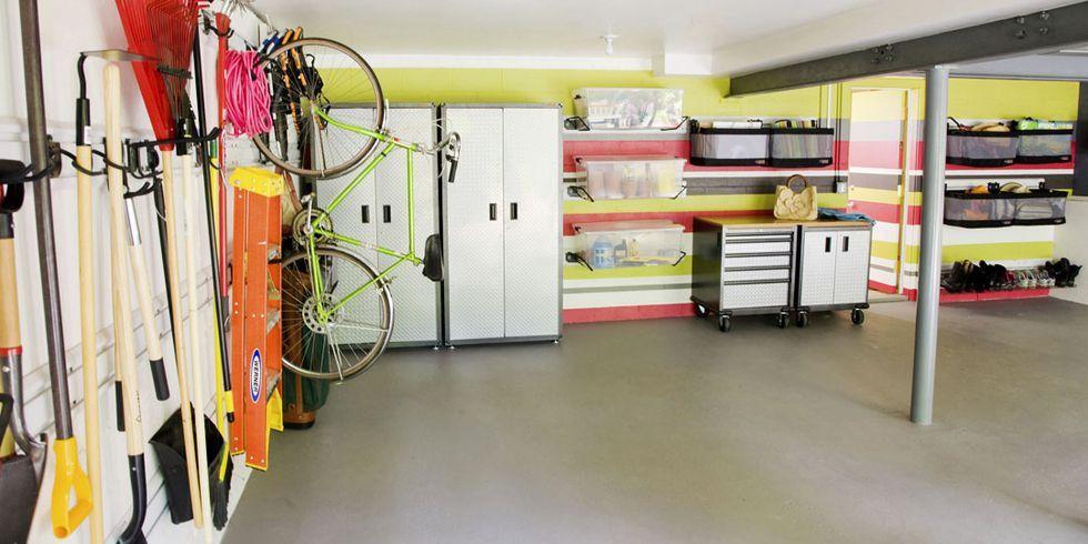 14 smart garage organization ideas garage storage and shelving tips rh housebeautiful com