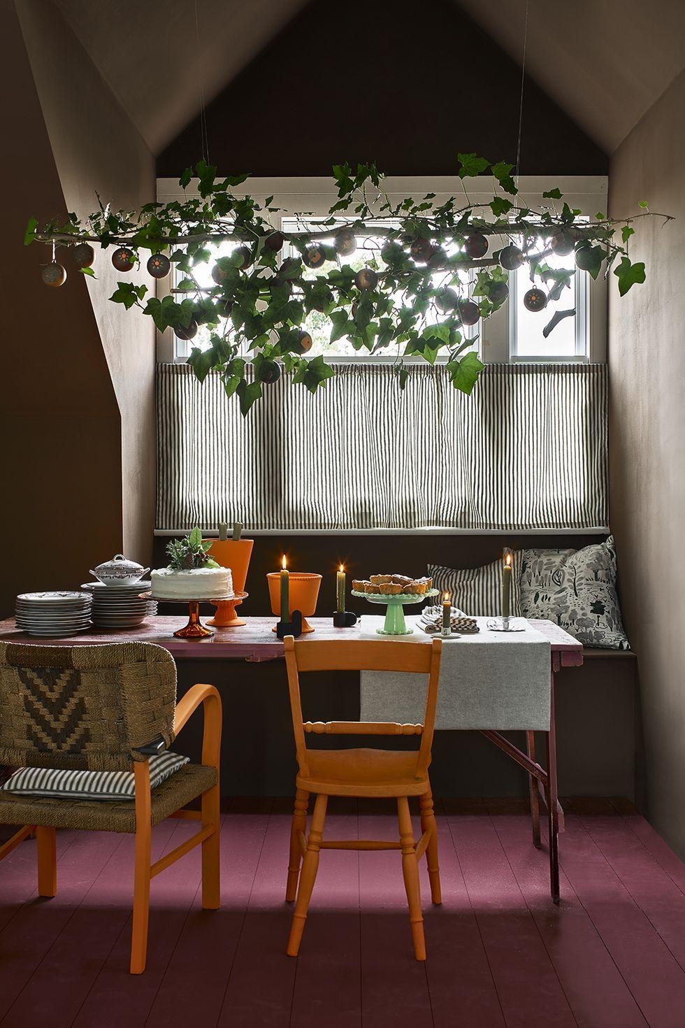 dekorasi ruang makan rumah ala natal