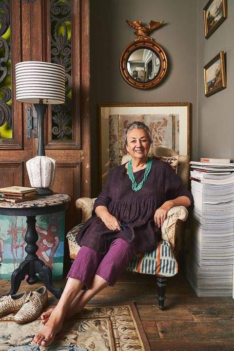 annie sloan's eclectic sitting room