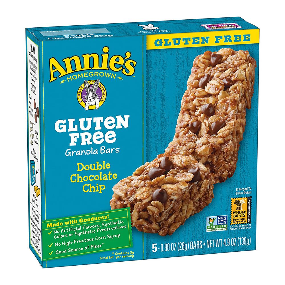 Annie's Gluten Free Double Chocolate Chip Granola Bars