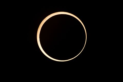 annular solar eclipse, redding, california日環食