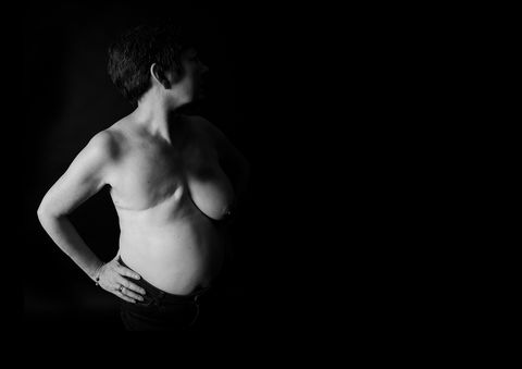 Black, White, Photograph, Monochrome photography, Black-and-white, Barechested, Arm, Standing, Shoulder, Monochrome,