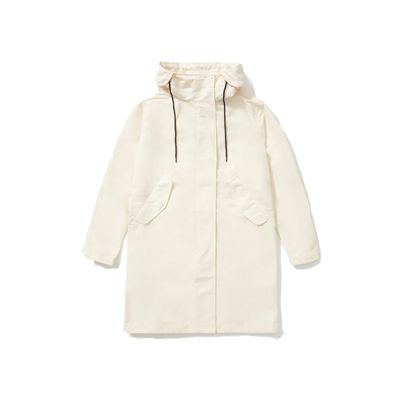 Clothing, Outerwear, Hood, White, Jacket, Sleeve, Beige, Hoodie, Coat, Parka,
