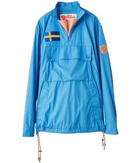 Clothing, Outerwear, Jacket, Blue, Turquoise, Sleeve, Windbreaker, Electric blue, Coat, Collar,