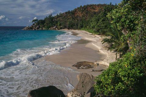 Anse Georgette beach on Praslin island, Seychelles