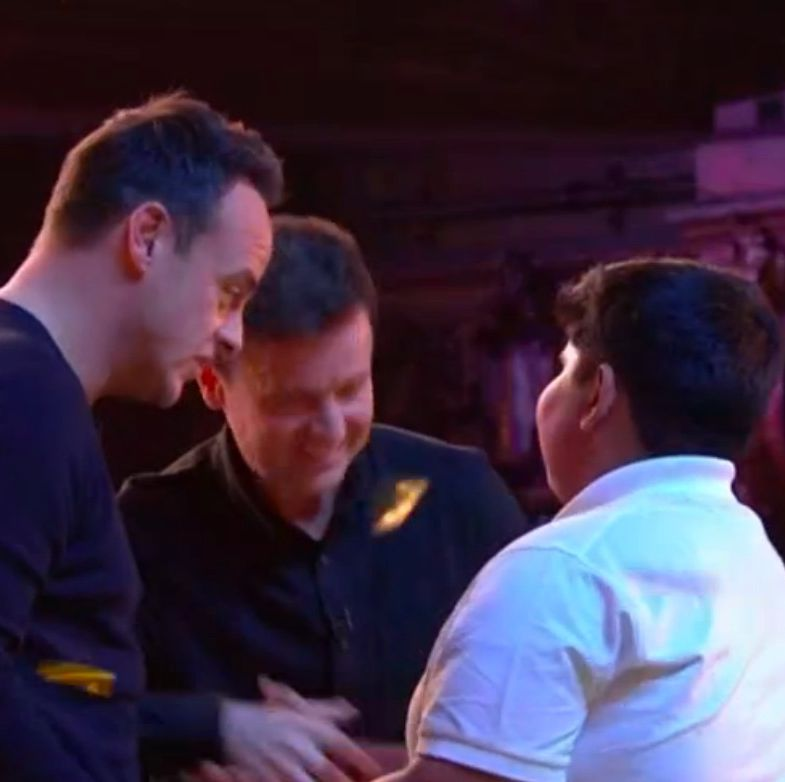 Britain's Got Talent's Ant and Dec press their Golden Buzzer and bring act to tears