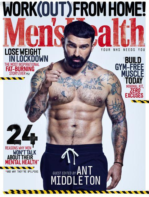 Barechested, Muscle, Magazine, Tattoo, Abdomen, Bodybuilding, Chest, Flesh, Physical fitness, Trunk,