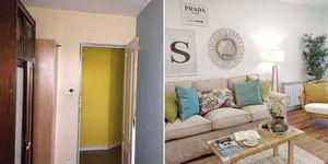 Salón: Antes y después