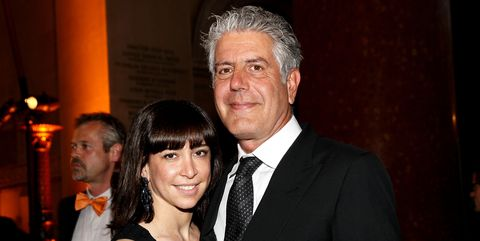anthony bourdain wife and daughter