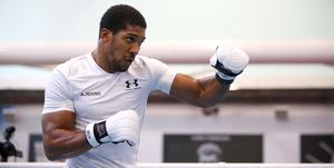 Anthony Joshua Media Workout - English Institute of Sport