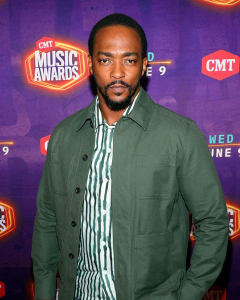 nashville, tennessee   june 09 anthony mackie attends the 2021 cmt music awards at bridgestone arena on june 09, 2021 in nashville, tennessee  photo by jason kempingetty images for cmt