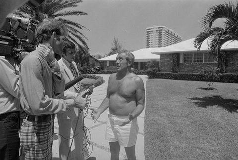 Portrait of Anthony Provenzano with Newsmen