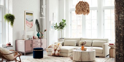 Living room, Furniture, Room, Interior design, Couch, Coffee table, Curtain, Table, studio couch, Floor,