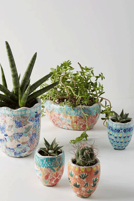 Anthropologie Bismark Mini Garden Pot