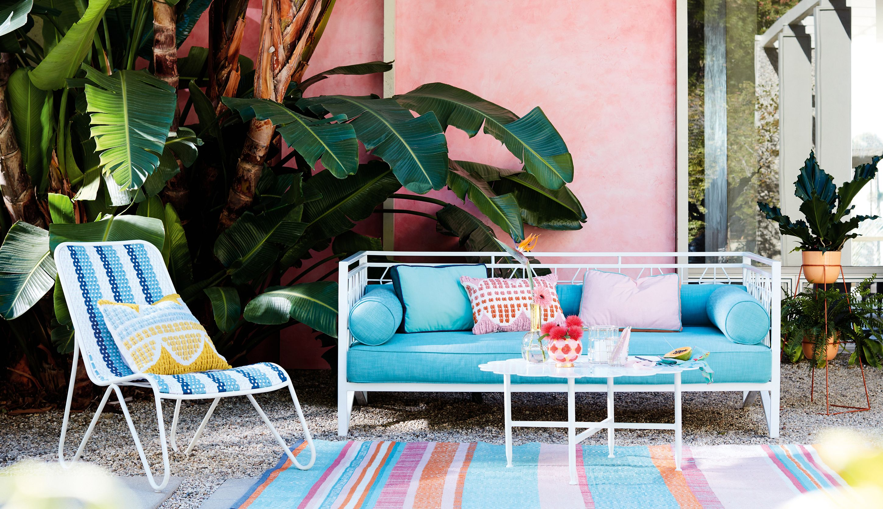 Anthropologie Is Debuting Its First Weather Resistant Outdoor Furniture Collection