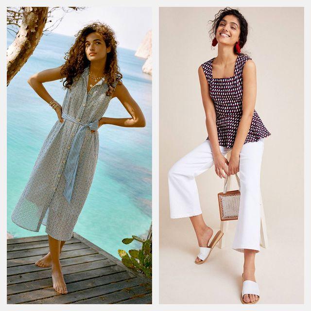 Clothing, Dress, White, Day dress, Fashion model, Fashion, Pattern, Pattern, Summer, Design,