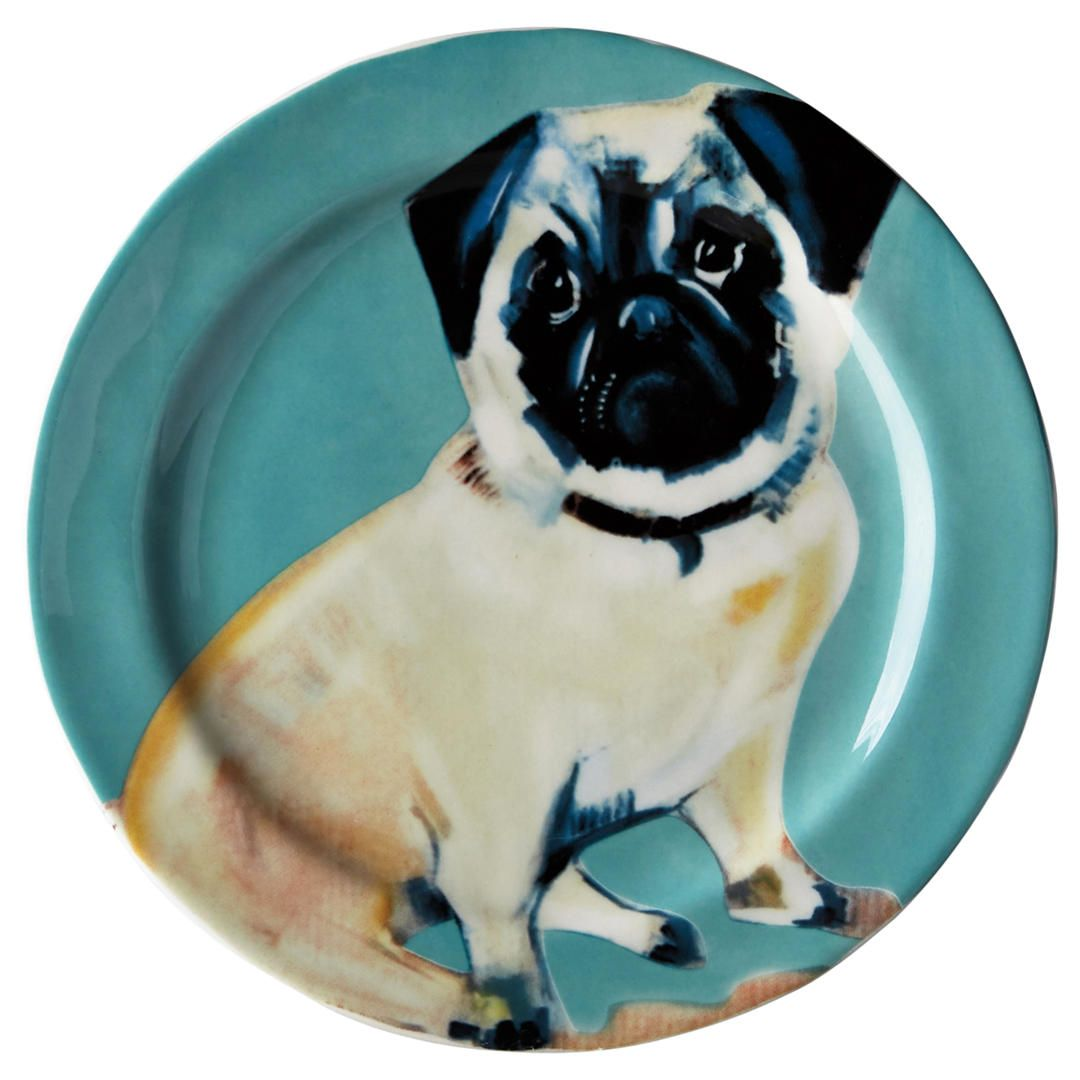 Anthropologie Sally Muir Dog-a-Day Dessert Plate