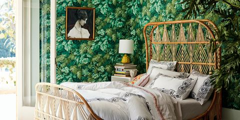 Furniture, Room, Bedroom, Interior design, Wallpaper, Wall, Couch, studio couch, Bed, Chair,