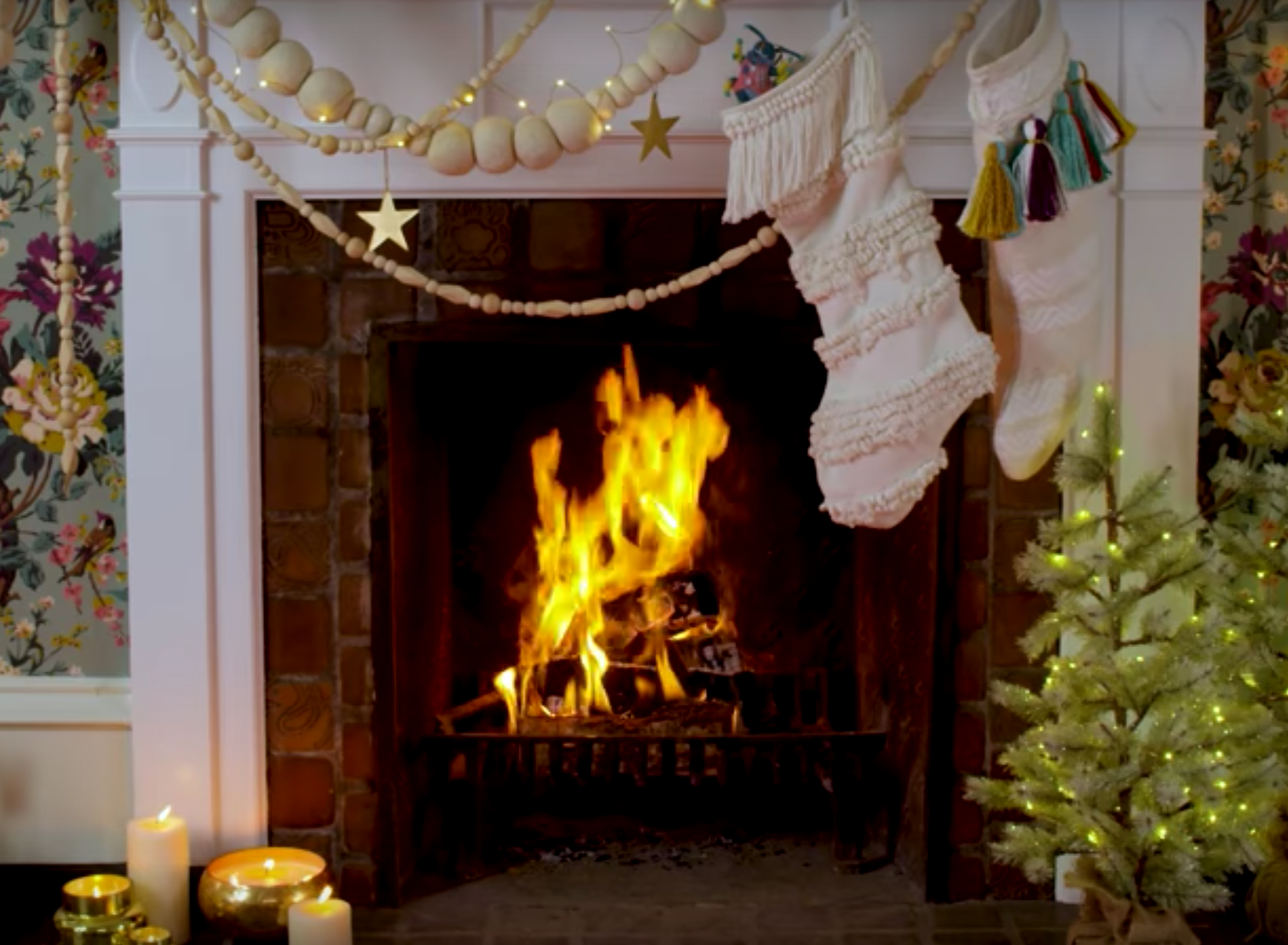 This Anthropologie Yule Log Will Make You Want To Style Your Fireplace Just Like It
