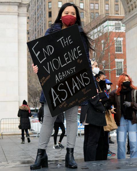anti asian hate crime rally