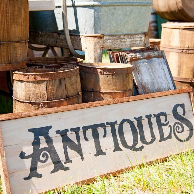 Antique Dishes, Furniture, And