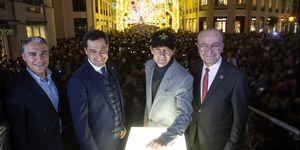 Antonio Banderas Switch On Christmas Lights In Malaga